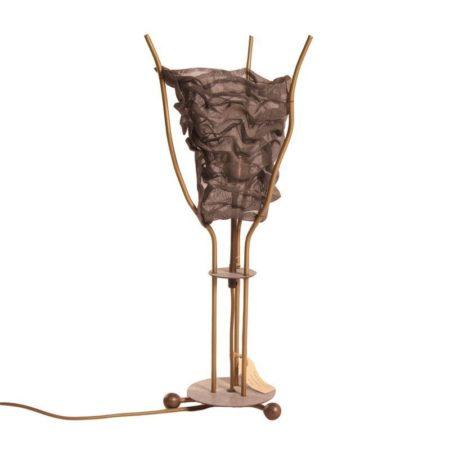 Metalen Tafellamp van Rob Eckhardt voor Eckhart en Leeuwenstein, 1980s | Vintage Design
