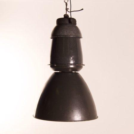 Grote Emaille Fabriekslampen van EFC, 1950s