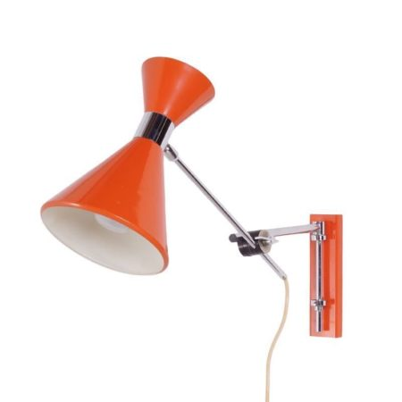 Oranje Diabolo Wandlamp Herda | Vintage Design