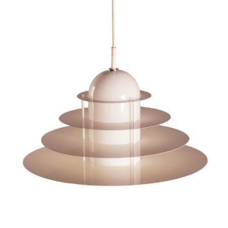 Witte B-1017 hanglamp van Andre Rotte voor Raak, 1982 | Vintage Design
