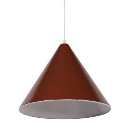 Arne Jacobsen Biljart Hanglamp voor Louis Poulsen |Bruin emaille | Vintage Design