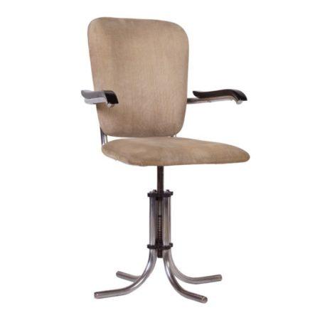 Verstelbare Fana Metaal Bureaustoel met Armleuningen | Vintage Design