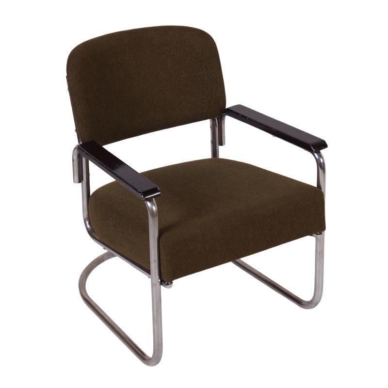 Mid century design groene bauhaus fauteuil buisstoel for Bauhaus design stoelen