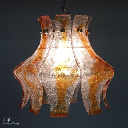 Murano Hanglamp voor Mazzega, 1970s