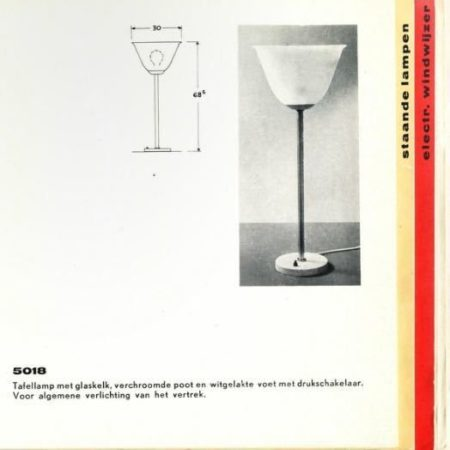 Tafellamp 5018 van Ontwerpbureau N.V. Gispen voor Gispen, 1950s