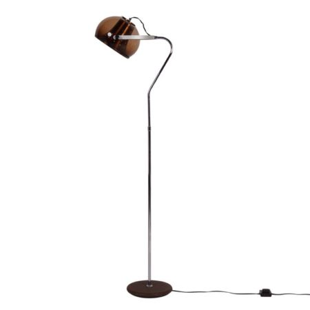 Herda Vloerlamp   Transparant Bruine Kap   Vintage Design