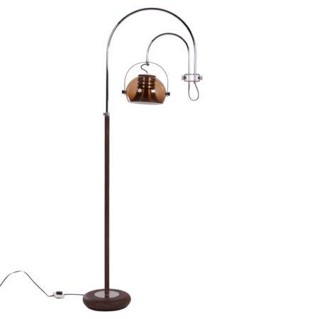 Dijkstra Booglamp | Vloerlamp Bruin Rookglas | Vintage Design