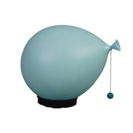 Blauwe Ballonlamp van Yves Christin voor Bilumen, 1980s | Vintage Design