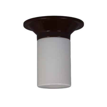 Witte Cilindervormige Plafondlamp van Corodex, 1970s | Vintage Design