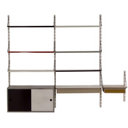 Pilastro Wandsysteem met kastje ontwerp Tjerk Reijenga ca. 1960 | Vintage Design