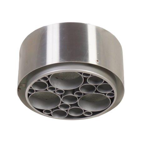 Alliance Plafondlamp met Metalen Ringen van RAAK, ca. 1970 | Vintage Design