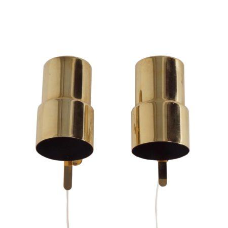 Messing Wandlampjes van Hans Agne Jakobsson voor AB Markaryd – set van twee, 1970s Zweden | Vintage Design