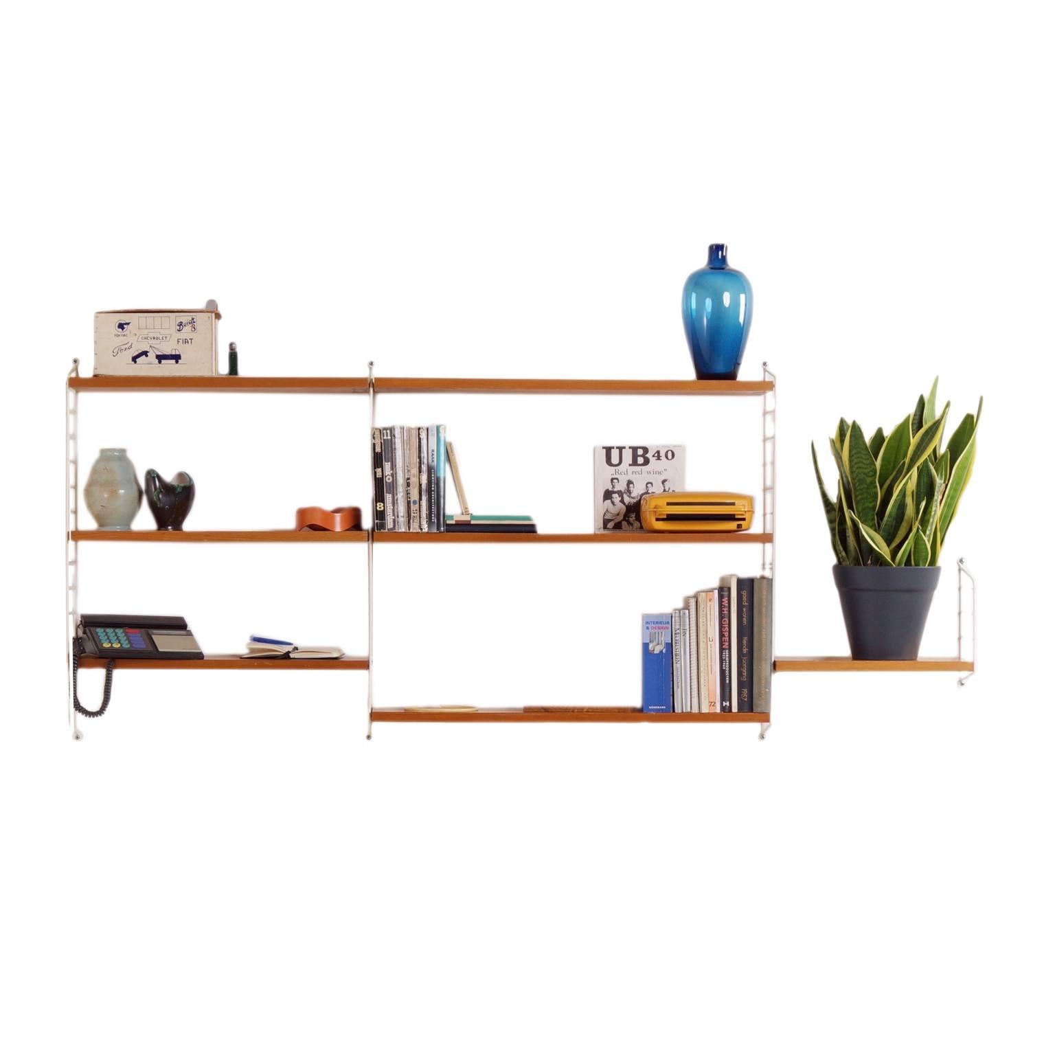 vintage klein wandsysteem van nisse strinning voor string design ab 39 60s ztijl. Black Bedroom Furniture Sets. Home Design Ideas