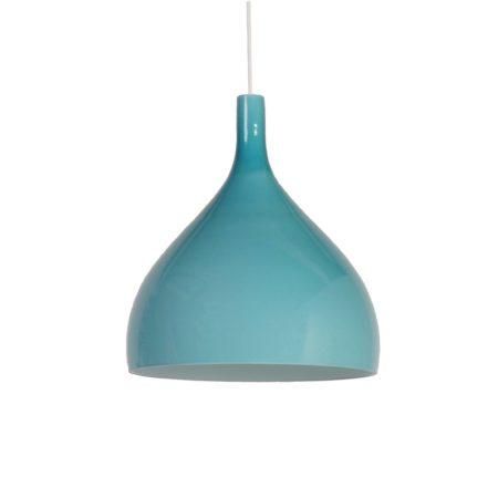 Blauw Groene Murano Hanglamp van Paolo Venini voor Venini & C, 1960s Italië | Vintage Design