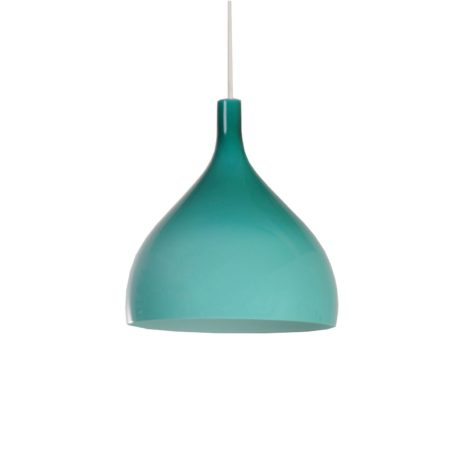 Groene Murano Hanglamp van Paolo Venini voor Venini & C, 1960s Italië | Vintage Design