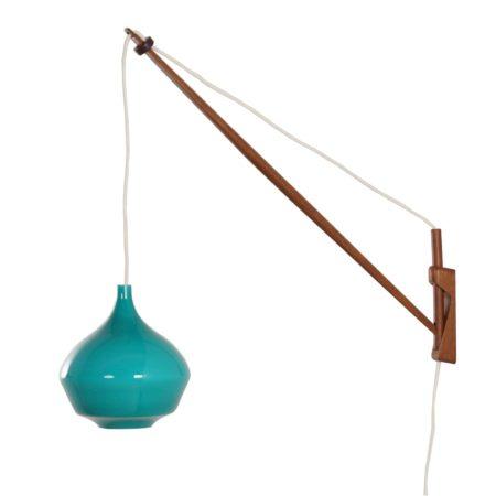 Groene Murano Wandlamp van Paolo Venini voor Venini & C, 1960s Italië | Vintage Design