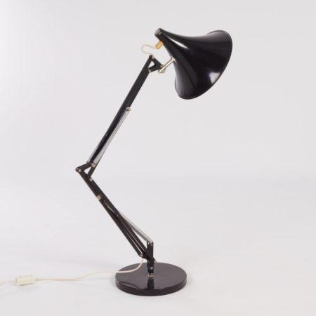 Verstelbare Zwarte Hala Bureaulamp, ca 1970
