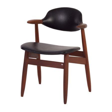 Teakhouten Koehoorn Stoel voor Tijsseling ca. 1960 | Vintage Design
