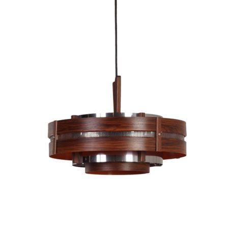 Vintage Hanglamp met Houtnerf Patroon, ca 1970   Vintage Design