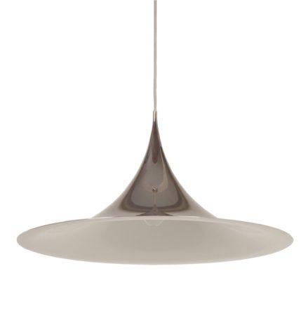 Grootste Semi Hanglamp van Bonderup en Thorup voor Fog en Morup, 1967 | Chroom | Vintage Design