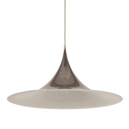 Grootste Semi Hanglamp van Bonderup en Thorup voor Fog en Morup, 1967   Chroom   Vintage Design