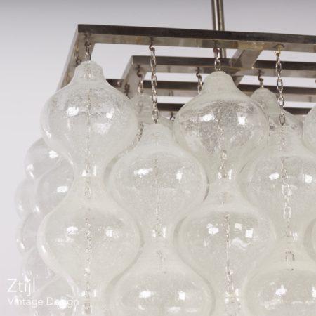 Unieke Kalmar Tulipan Hanglamp met 162 Kelkjes, Oostenrijk 1960s