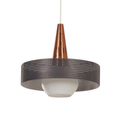 Geperforeerde Vintage Hanglamp in de stijl van Pilastro en Mategot – 1960s | Vintage Design