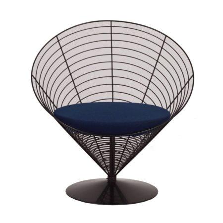 Cone Draad Stoel van Verner PANTON voor Fritz Hansen, 1988 – Blauw | Vintage Design
