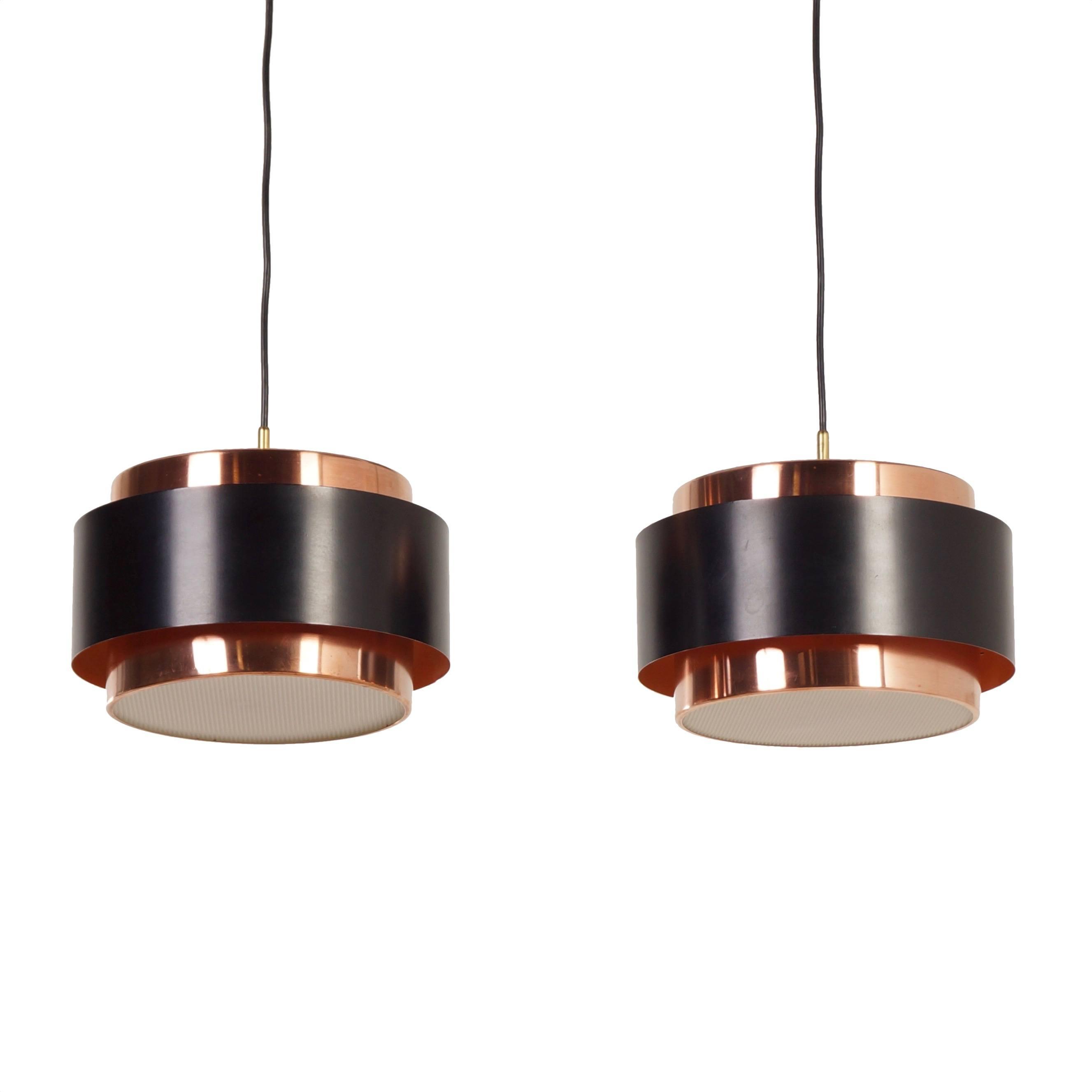 Hanging Lamp Nl: Paar 'Saturn' Hanglampen Door Jo Hammerborg Voor Fog