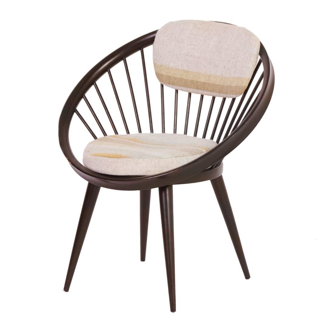 Cirkel stoel van Yngve Ekstrom voor Swedese in ca 1960 Vintage Design