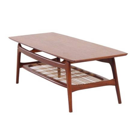 Teakhouten Salontafel van Louis van Teeffelen voor Wébé, 1960s | Vintage Design