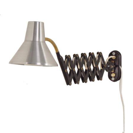 Zilvergrijze Hala Schaarlamp, 1960s | Vintage Design