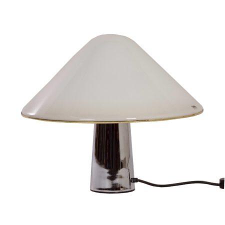 Witte Mushroom Lamp van Guzzini, 1970s | Vintage Design
