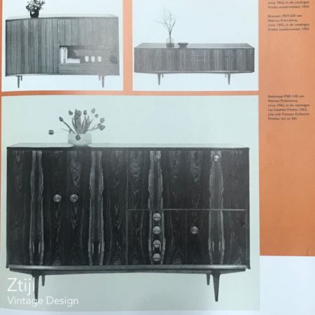 Palissander PSR-130 Salonkast van Marten Franckena voor Fristho, 1962