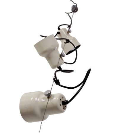 Gepo Hanglamp met Drie Witte Spots, 1970s | Vintage Design