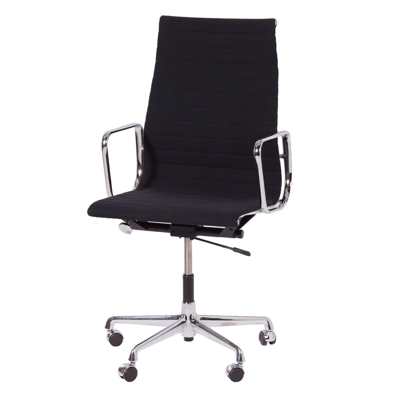 Zwarte eames stoel ea 119 van vitra 1980s vintage design for Ray eames stoelen