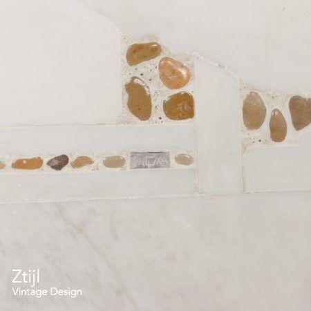 Kleine Witte Marmeren Salontafel van Paul Kingma, 1980s