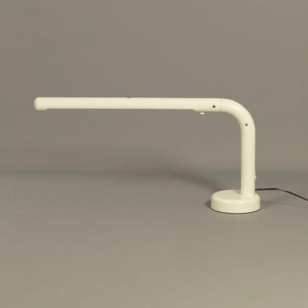 Witte Tube Bureaulamp van Anders Pehrson voorAtelje Lyktan, 1970s