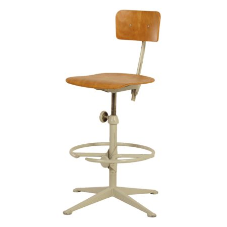 Industriële Tekentafelstoel van Friso Kramer voor Ahrend, ca 1960   Vintage Design