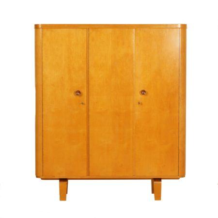 Kledingkast van W. Lutjens voor Gouda Den Boer, 1950s   Vintage Design