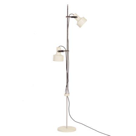 Anvia Vloerlamp met 2 Witte Spots van J. Hoogervorst voor Anvia, 1960s | Vintage Design