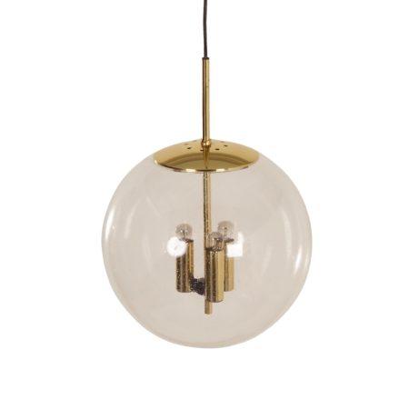 Glazen Hanglamp voor Glashütte Limburg Leuchten, 1970s | Vintage Design