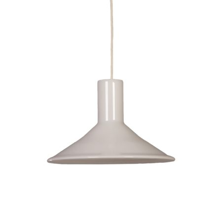 Witte Hanglamp van Michael Bang voor Holmegaard, 1960s | Vintage Design
