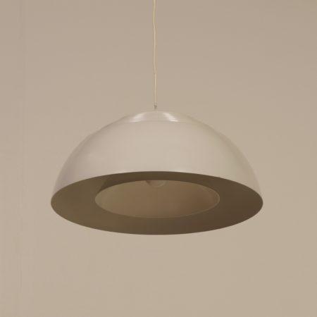 Grijswitte AJ Hanglamp van Arne Jacobsen voor Louis Poulsen, 1950s