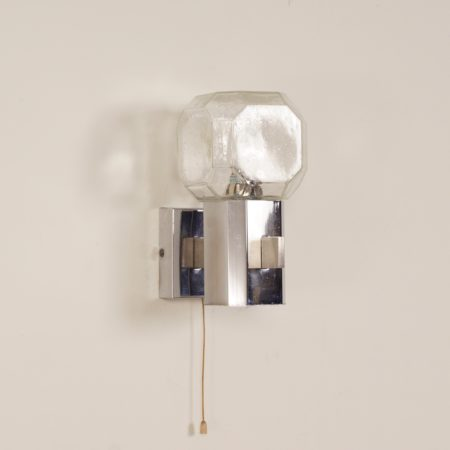 Glazen Wandlamp van Cosack Leuchten, 1960s
