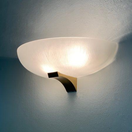 Art Deco Wandlamp van Jean Perzel, 1930s   Gezandstraald Glas