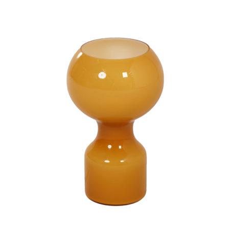 Glazen Tafellamp in Oker Geel van Jean-Paul Emonds-Alt voor Philips, 1960s