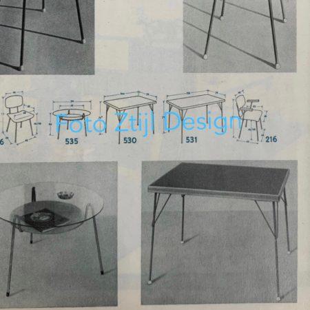 Eetkamertafel Model 531 van Wim Rietveld en André Cordemeyer voor Gispen, 1950s