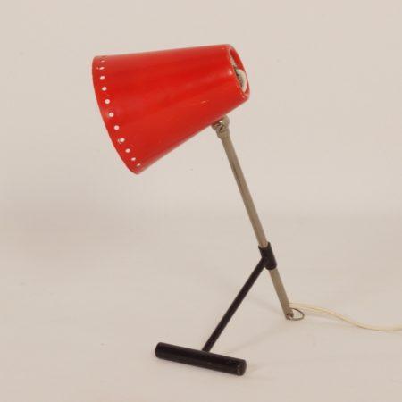 Rode Bambi Tafellamp van Floris Fiedeldij voor Artimeta in ca. 1956