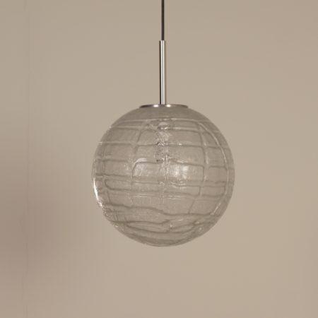 Glazen Globe Hanglamp van Doria Leuchten, 1970s